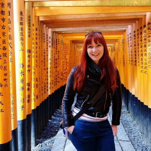 Jacqui at Fushimi Inari Shrine, Kyoto, Japan