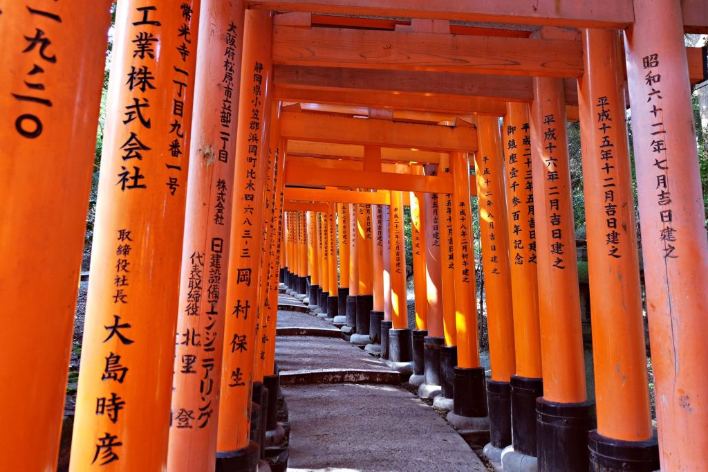 Kyoto Fushimi Inari Shrine Torii gates