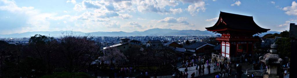 Kyoto Kiyomizu-dera view over Kyoto panorama