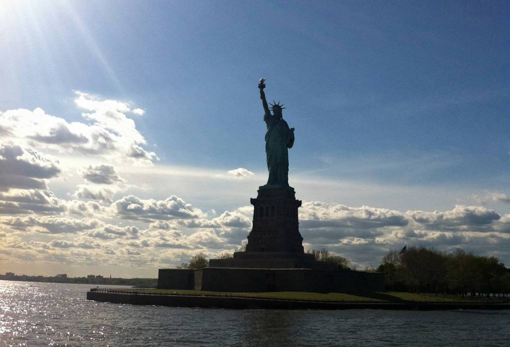 Statue of Liberty New York City in the sun
