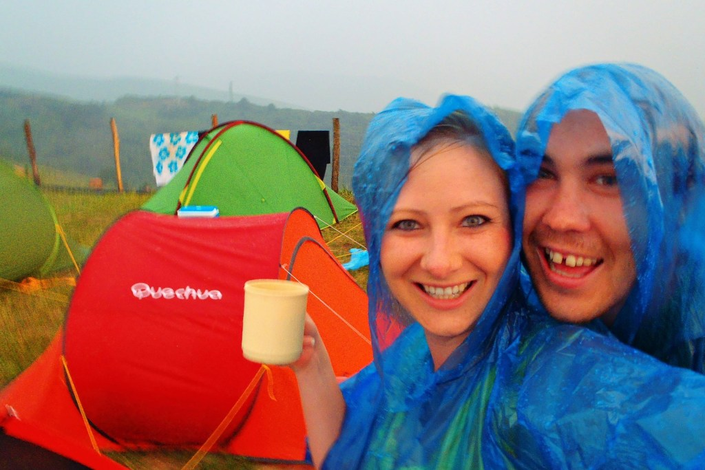 Camping in the rain in Spain