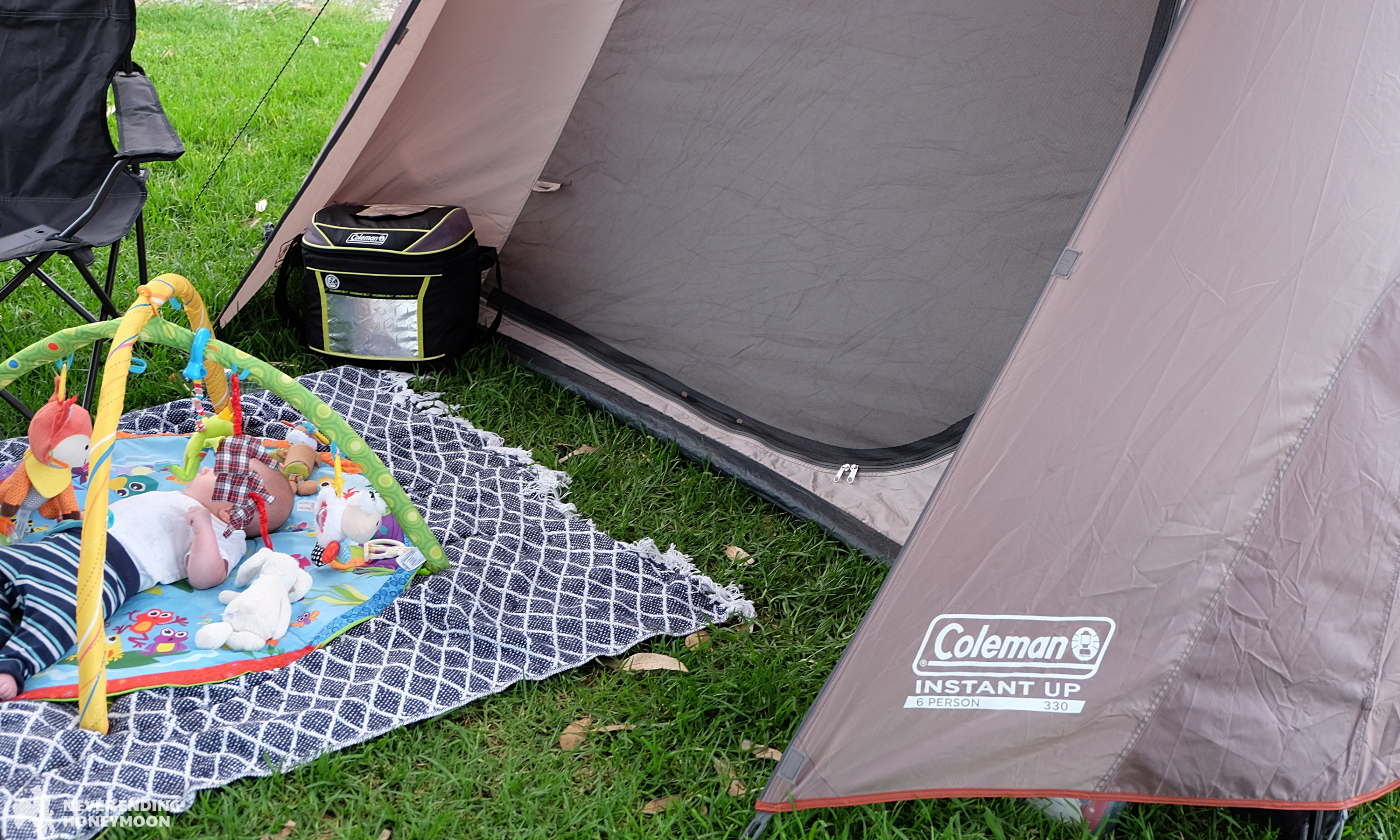 NSW road trip Coleman Instant Up tent and esky : long road travel tent - memphite.com