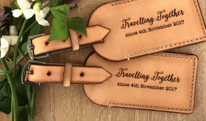 thoughtful gift luggage tags from Studio38
