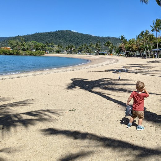 Boy on at Airlie Beach