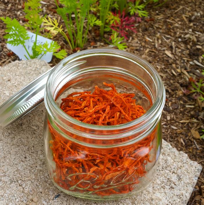 Dehydrated Cinnamon Carrot Shreds