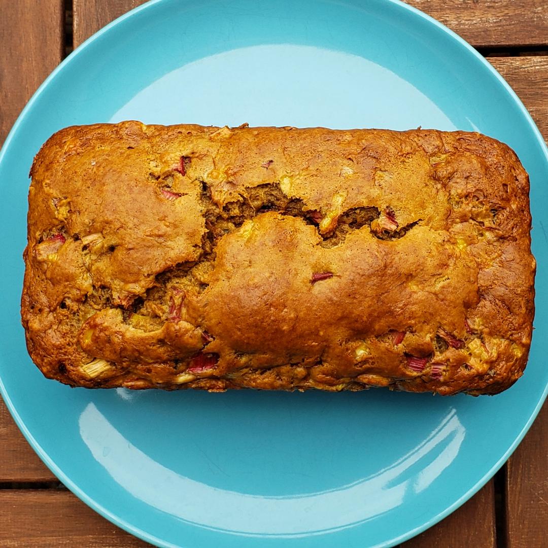Banana Rhubarb Bread