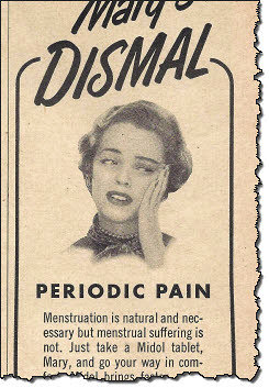 Mary needs Midol (Old ad)