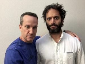Jason and Jimmy share eyeball tips