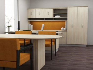 Americana office suite with u-shape desk