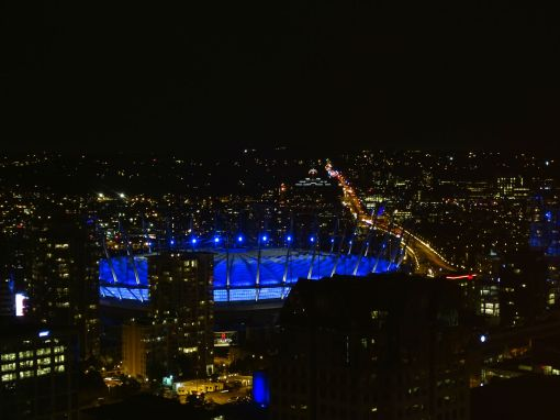 BC Place Stadium @Night