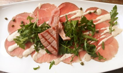 Grilled Tuna on Tuna Carpaccio