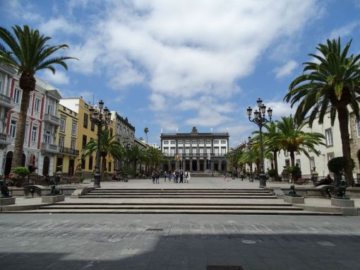 Plaza de Santa Ana with Town Hall