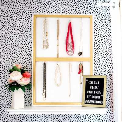 Super Easy DIY Jewelry Holder that Doubles as Decor