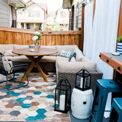 Patio Reveal: Designing a cozy chic outdoor space