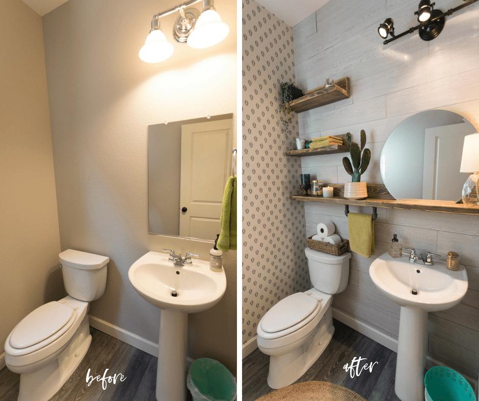 powder bath room renovation   powder bath ideas   small bathroom renovations