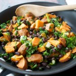 Sweet Potato, Kale & Black Bean Hash