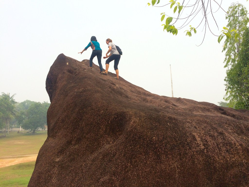 Bu Lusni and I climbed the biggest one :D