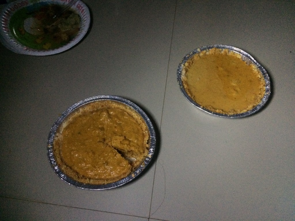 My no-bake pumpkin pies!