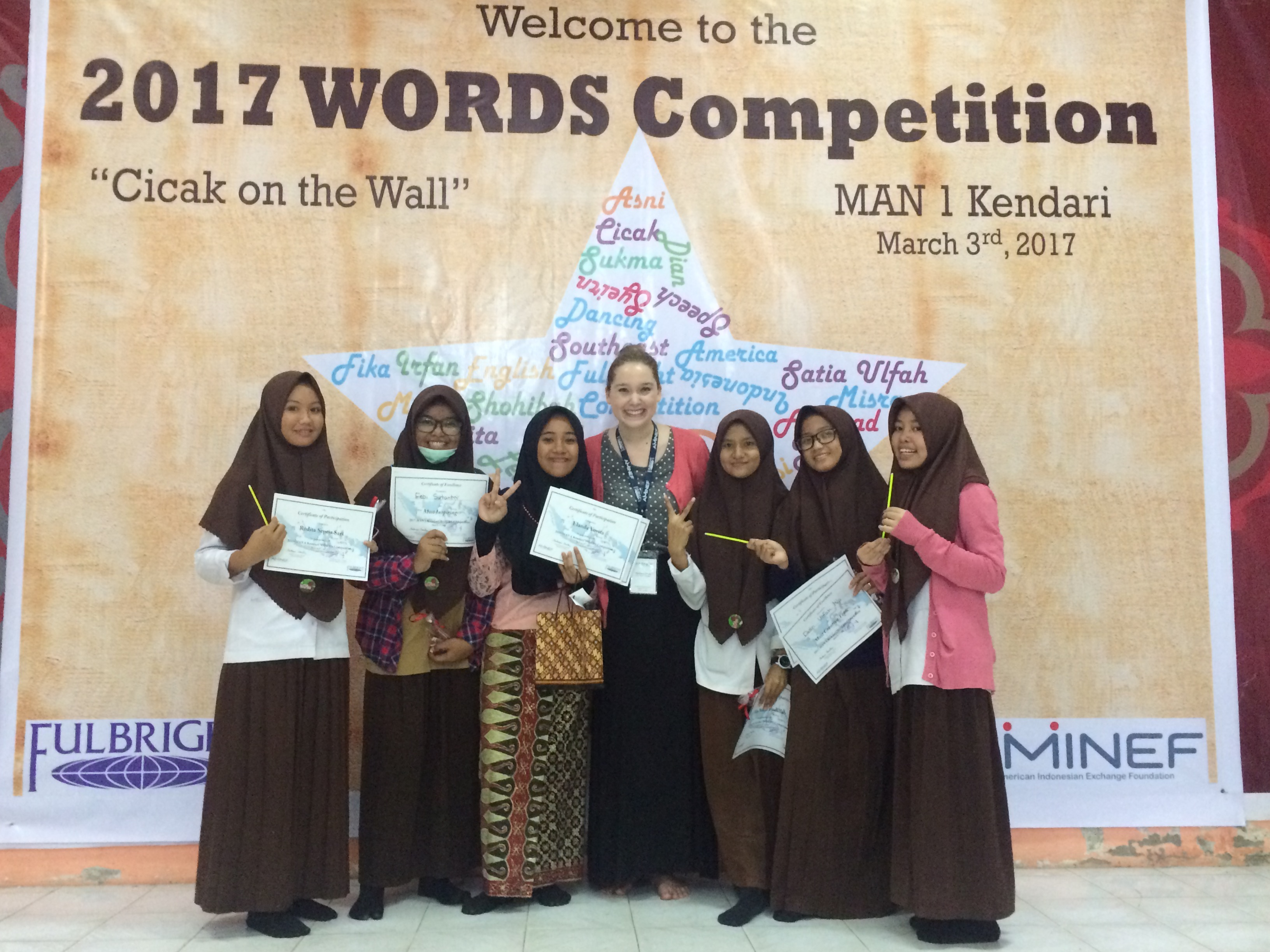 WORDS Competition 2017 at MAN 1 Kendari - The Year of Living Audaciously