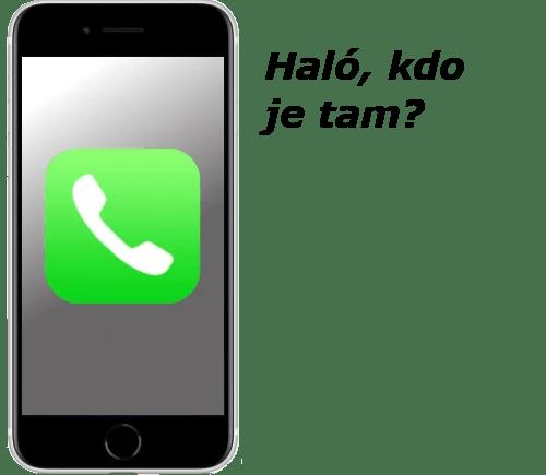 Obrázek iPhonu - Telefonování