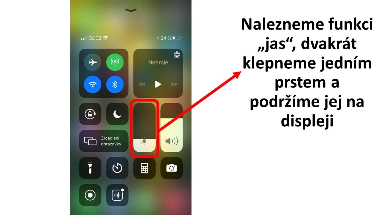 Aktivace nočního režimu pro iPhone - rychlé spuštění - obrázek