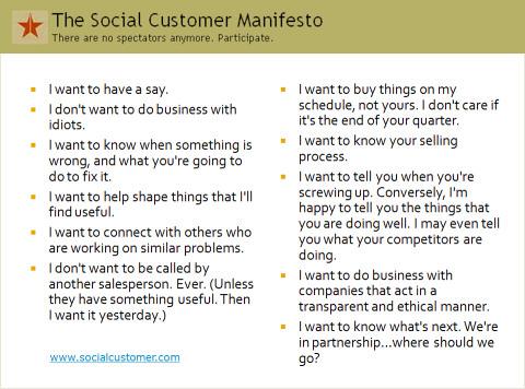 The Social Customer Manifesto
