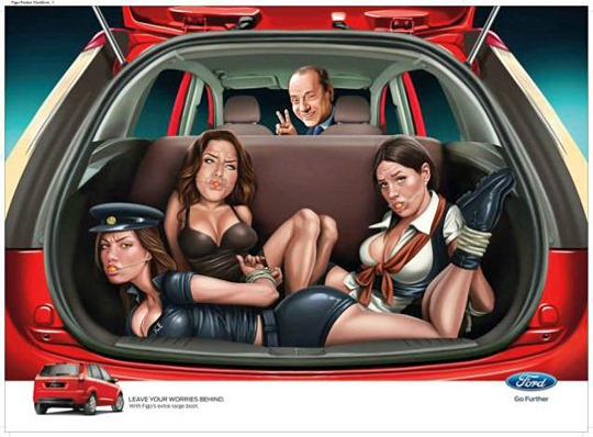 JWT India's Ford ad mock-up