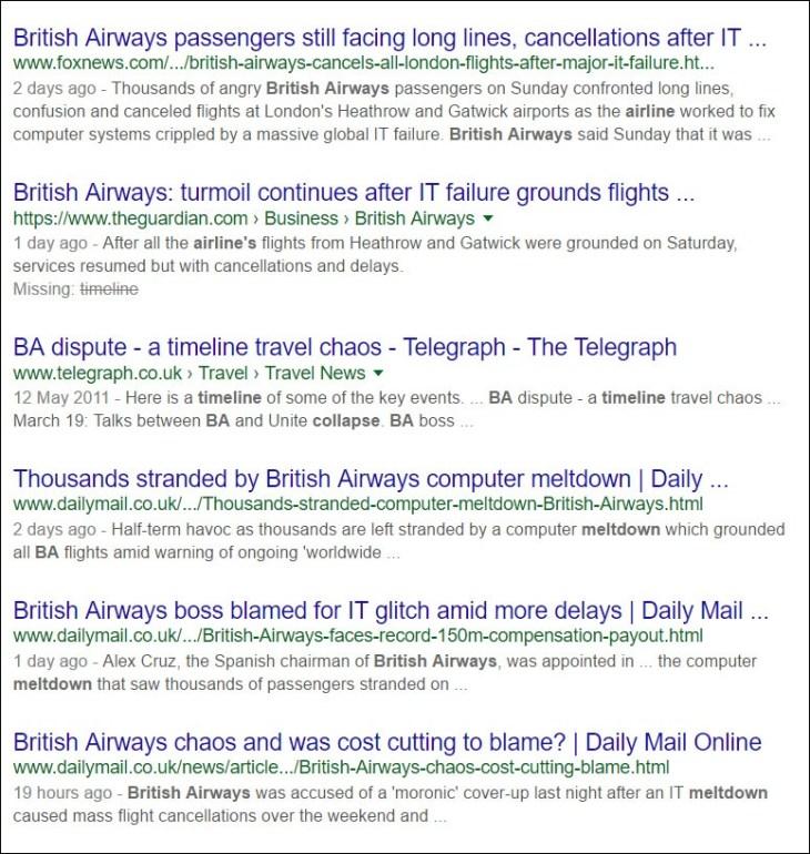 British Airways news headlines