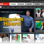 Coca-Cola re-imagines the corporate website