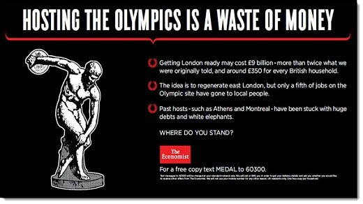 Are the Olympics a waste of money, asks Economist ad campaign