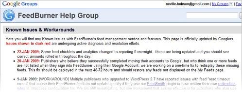 feedburnerhelpgroup