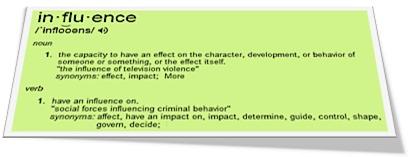 """Define """"influence""""..."""