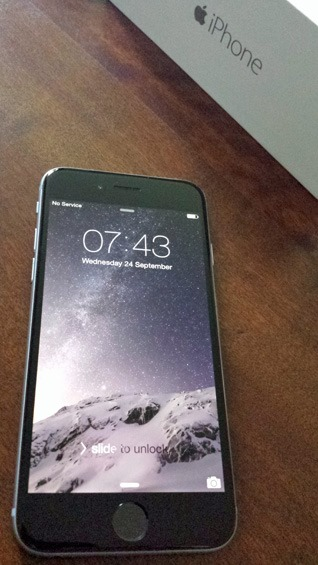 iPhone 6 out of the box
