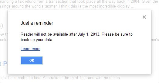 The Google Reader shutdown: Last chance to move on