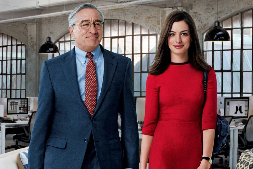 Robert De Niro - a Baby Boomer - in The Intern with Anne Hathaway