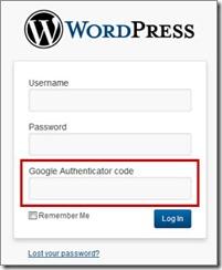 WordPress login with Google Authenticator
