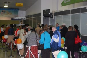 Arriving passengers