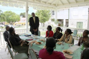 President Hall with members of UVI's Alumni Association