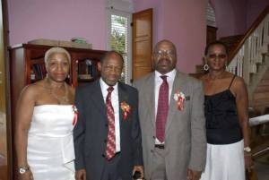 Ms. Pixie Southwell, Prime Minister the Right Hon. Dr. Denzil L. Douglas,  Mr. Rustum Southwell and Miss Clytie Southwell