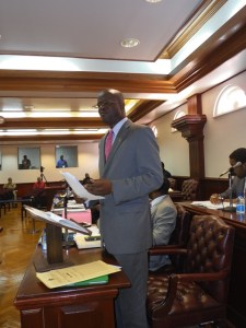 Hon. Patrice Nisbett in the National Assembly (Photo by Erasmus Williams)