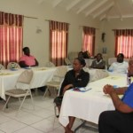 A section of the participants in the Nevis Teachers' Union One-Day Training Workshop held on October 3, 2013 at the Red Cross Conference Centre