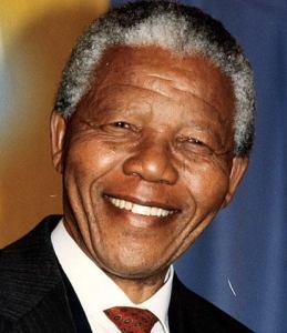 Former South Africa leader Nelson Mandela