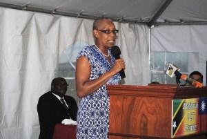 3: Minister Liburd addressing the ceremony