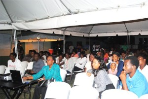 A cross section of persons who attended the meeting at New Road on Thursday evening.