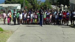 Scenes from JLPS senior girls cross country