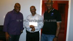 Mr. Vaughn Walters (L), Mr. Pearlivan Wilkin and Mr. Laughton Browne