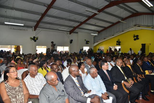 Section of Crowd including Rt Hon Dr Sir Kennedy Simmonds