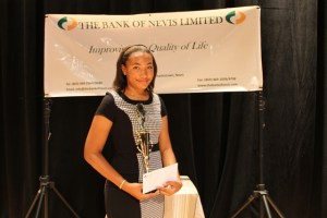 Second place winner in the 2014 Bank of Nevis Ltd. Tourism Youth Congress Paige James
