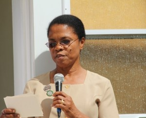 Supervisor of Community Health and Nursing Services Nurse Jenevie Daniel (file photo)