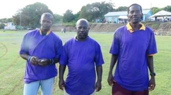 left to right--Umpire Muggy; Umpire HAG and Umpire Lemuel Pemberton